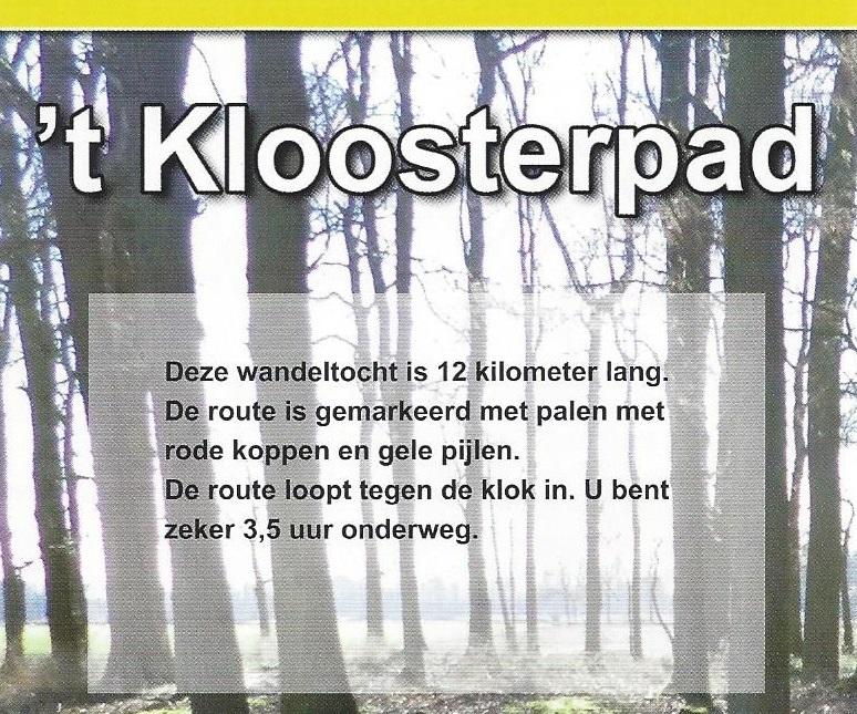 Wandelroute 't Kloosterpad